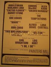 1969 Temptations Concert Handbill Painters Mill Music Fair Owings Mills Md