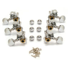 Grover Chrome Round Button Sta-Tite Vintage Open Gear Guitar Tuners V98C