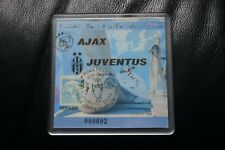 Juventus v Ajax 1996 Champions League Final Ticket/Coaster