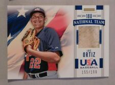 2013 Team USA Baseball Game Used Jersey LUIS ORTIZ Rangers  /199