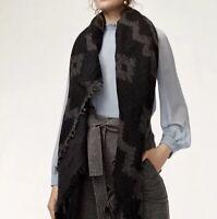 0f3887c917f8b Aritzia Wilfred Fringe Hem Wrap Blanket Scarf Wool Blend Colourful ...