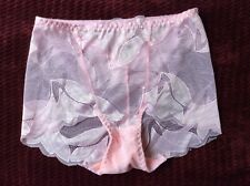 New listing Vintage Beautiful Pink See Through Lace Sissy Panty size Sm Medium