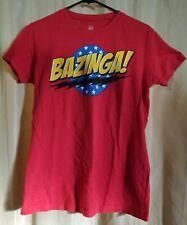 Big Bang Theory Ripple Junction BAZINGA! Red T-Shirt Size Womens XL