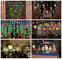 Christmas Wall Sticker Window Glass Decoration DIY Removable PVC New Year Decals