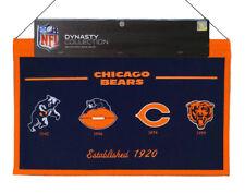 Chicago Bears Nfl 22x14 Logo Evolution Heritage Banner