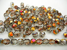 150 Preciosa Czech Glass Round Faceted Fire Polished Beads 8mm Crystal Santander