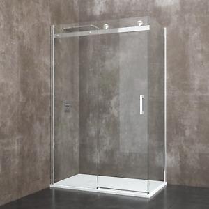 Box cabina doccia bagno rettangolare vetro cristallo porta scorrevole angolare