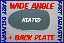 BMW 5 E39 M5 1997 - 2003 WING MIRROR GLASS BLUE HEATED WIDE ANGLE LEFT + PLATE