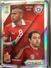 Chile / Spain MATCHUPS Arturo Vidal vs Xavi Hernandez-Silver Prizm Panini  #3..