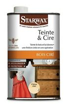 CIRE TEIGNANTE TEINTE ET CIRE CHENE CLAIR 0.5L BOIS MEUBLE PARQUET STARWAX 117