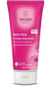 Weleda Wild Rose Creamy Body Wash 200ml harmonising pampering certified natural