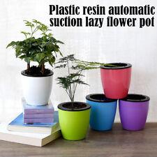 Plastic Flower Pot Self Watering Plant Flowerx Pot Imitation Pottery Automatic W