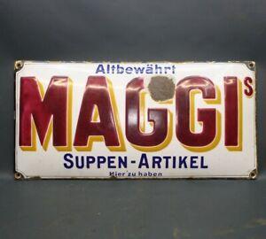 100 % original Emailschild Maggi Werbung - dick emailliert - Fundzustand [3485-5