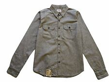 Edwin LS King Shirt, Twisted Chambray Selvage, Blue Rinsed, M *special/rare*