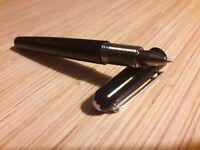 MONTBLANC M BLACK Resin Ballpoint Pen RHODIUM PLATED - magnetic cap