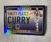2020-21 Panini NBA Hoops STEPH CURRY Vanity Plates Holo Refractor #16 SP