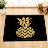 Golden Pineapple Non-slip Door Bath Mat Kitchen Floor Carpet Bathroom Shower Rug