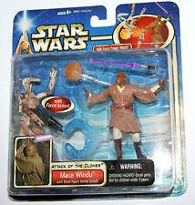 Star Wars AOTC Figure - MACE WINDU with Blast-Apart Droid
