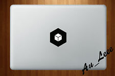 Macbook Air Pro Vinyl Skin Sticker Decal Light Up Black Cube Box Shapes M537