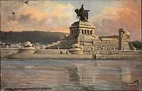Koblenz Coblenz 1910 Kaiser Wilhelm Denkmal Verlag Tucks gelaufen Deutsches Eck