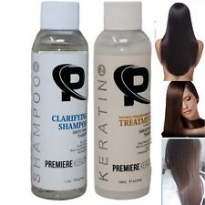 Brazilian Keratin Hair Treatment Kit with Clarifying Shampoo 120ml / 4 oz Each