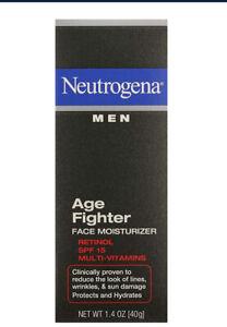 Neutrogena Men Age Fighter Face Moisturizer w/ Sunscreen exp: 8/2022 Lot of 2