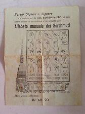 Alfabeto manuale dei Sordomuti, Lotto, Mole Antonelliana, Ephemera
