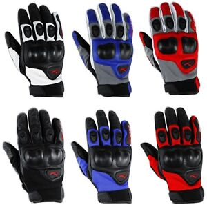 Leather Textile Professional Gloves Motorcycle knuckles Protection Apparel