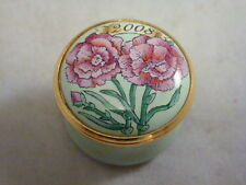 Halcyon Days Enamels Mini Year Box 2008 miniature box round screw lid