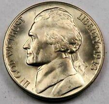 "(1) 1943-D SILVER Jefferson ""war"" Nickel // Gem BU++ *Full Steps - FS* // 1 Coin"