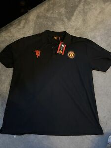 Mens Black Official Manchester United Polo Shirt Size 3XL BNWT