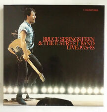 "Bruce Springsteen & The E Street Band Live 1975-85 3-CD Caja 12"" x 12"" + libro"