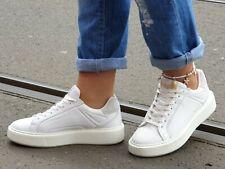 Buffalo Schuhe Rola Sneaker 15302231 Echtleder weiß Damen Wechselfußbett