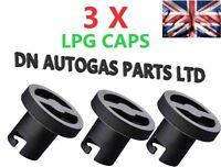 3 X AUTOGAS GAS REPLACEMENT CAP COVER LID CARS VANS BAYONET  FILLER LPG