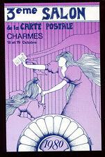 cpa 88 CHARMES Vosges. 3ème Salon de la Carte Postale . 1980 .tirage 1000 ex.