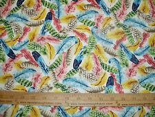 Cotton Fabric Paint Brush Studio Birds of a Feather  ALL BIRD FEATHERS BTY