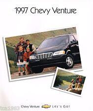 1997 Chevy VENTURE MiniVan Brochure / Catalog with Color Chart: LS, Mini Van