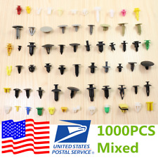 Universal Car Fender Bumper Trim Door Panel Push Rivet Pin Clips 1000x USA Ship