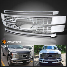 2017-2018 Ford F250 F350 F450 SuperDuty Front Hood Grille Overlay Chrome Cover