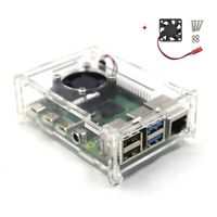 Raspberry Pi 4 Model B Clear Acrylic Case Enclosure Box Kit with Cooling Fan US