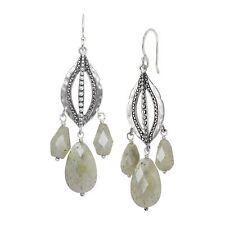 Silpada 'flora' Natural LABRADORITE Beaded Chandelier Drop Earrings in Sterling
