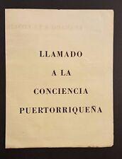 VINTAGE NEWSLETTER / FRENTE DE LIBERACION NACIONAL / PUERTO RICO / 1957 / RARE