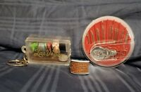 LOT of VINTAGE Sewing Supplies w/ Needle Case, Vegas Keychain Kit & Sewing Ring