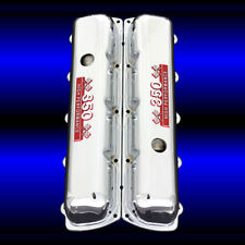 Chrome Valve Covers Fits Oldsmobile 350 Engines 350 Emblems red