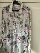 White Stuff Women's Linen Long Sleeve Shirt/Tunic (UK12/VGC)