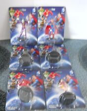 D. C.Comics Figurine Set Of Six Superman Batman (2) Flash Wonder Woman Joker New