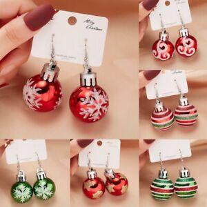 Fashion Christmas Snowflake Star Ball Drop Dangle Earrings Women Jewellery Gift