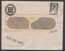 "Netherlands Antilles Sc 134 perfin ""MB"" on 1947 Bank cover"