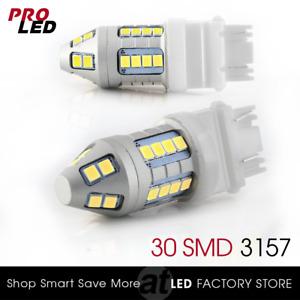 New 3157 3156 Xenon White Turn Signal Blinker Corner LED Light bulbs