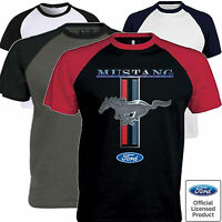 Mens Ford Mustang T Shirt Licensed Pony American V8 Classic Muscle Car Clothing